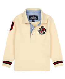 Boys' milk pure cotton long sleeve shirt