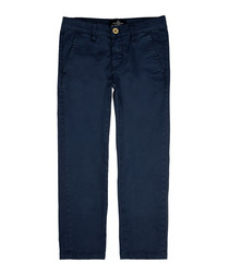 Boys' navy cotton jeans