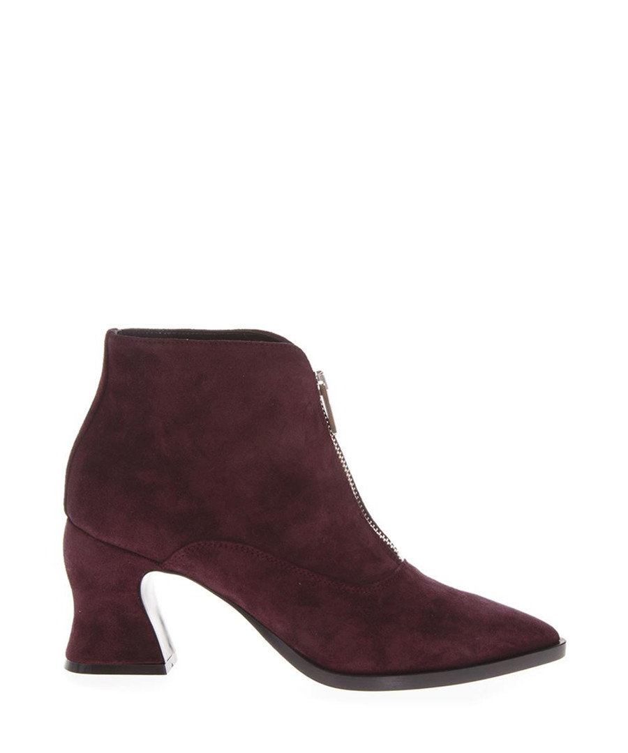 Burgundy suede ankle boots Sale - alexander mcqueen