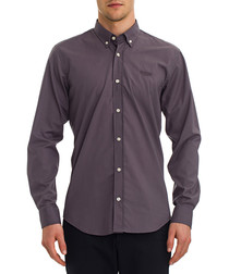 Dim grey cotton long sleeve shirt