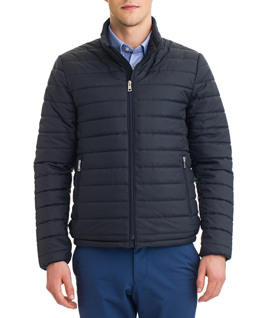 Black quilted puffer coat Sale - galvanni