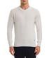 Off-white wool blend V-neck jumper Sale - galvanni Sale