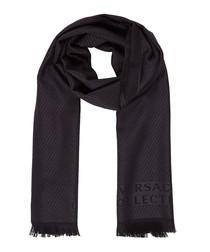 Black & grey pure wool scarf
