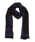 Black & dark wool blend blue scarf Sale - versace collection Sale