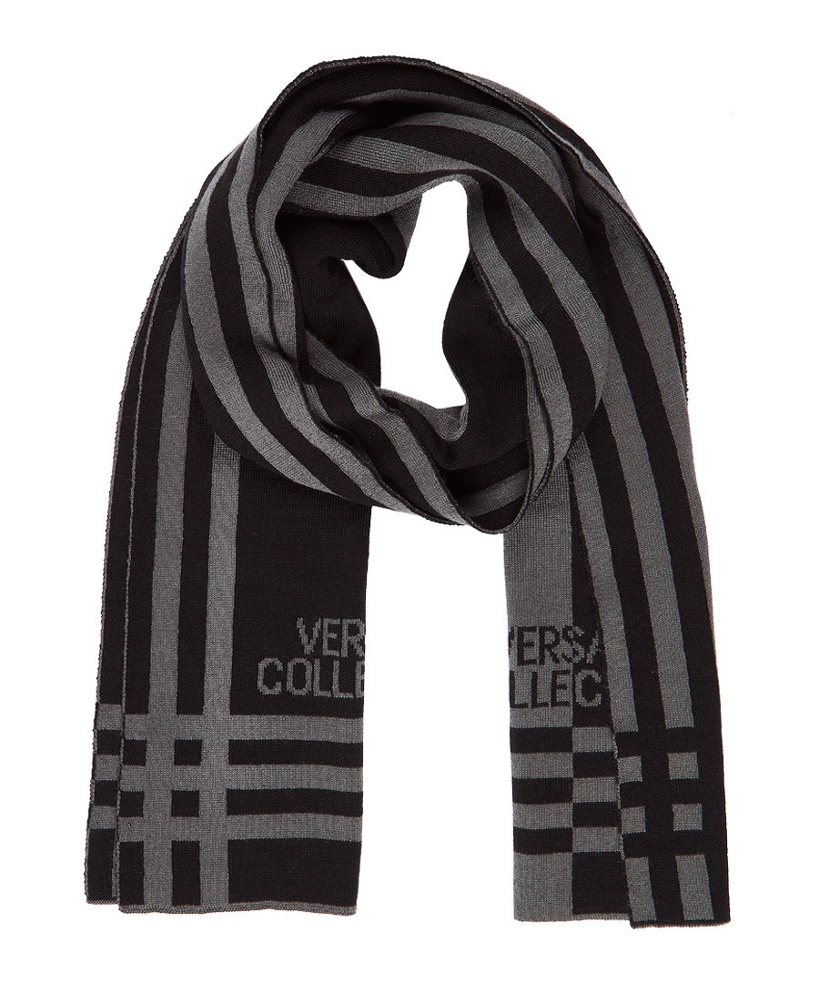Black & grey wool blend scarf Sale - versace collection