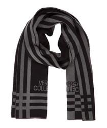 Black & grey wool blend scarf
