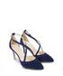 Glitzy navy suede strappy heels Sale - Sargossa Sale