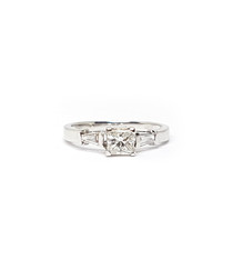 1ct princess diamond engagement ring