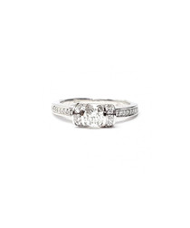 0.7ct diamond ribbon engagement ring