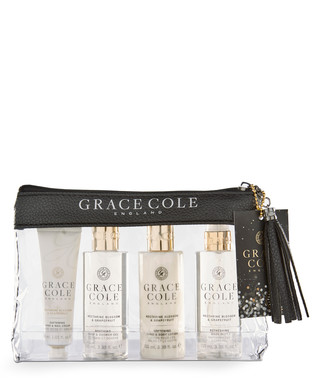4eba2945f8f 4pc Nectarine   Grapefruit travel set Sale - Grace Cole Sale