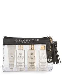 4pc Nectarine & Grapefruit travel set