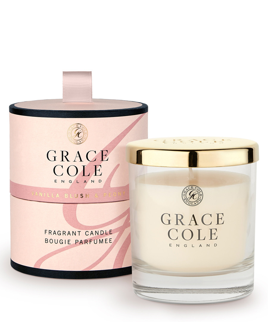 Vanilla Blush & Peony candle 200g Sale - grace cole