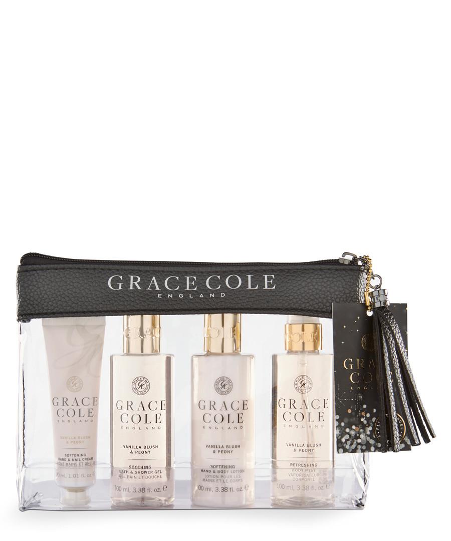 4pc Vanilla Blush & Peony travel set Sale - grace cole