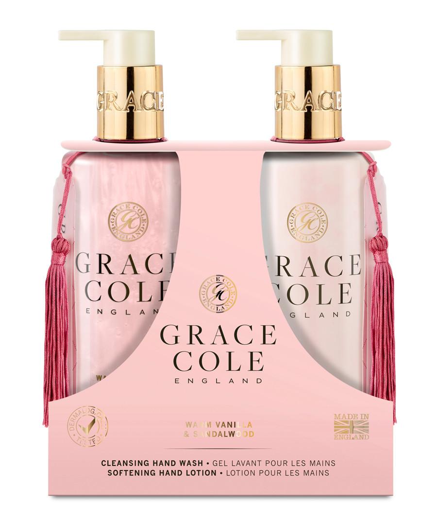 2pc Warm Vanilla & Sandalwood hand care Sale - grace cole