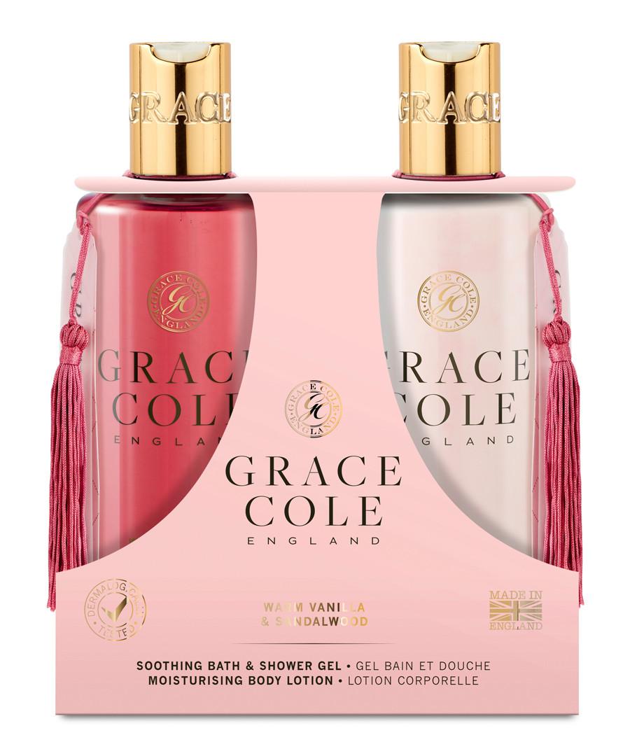 2pc Warm Vanilla & Sandalwood body care Sale - grace cole