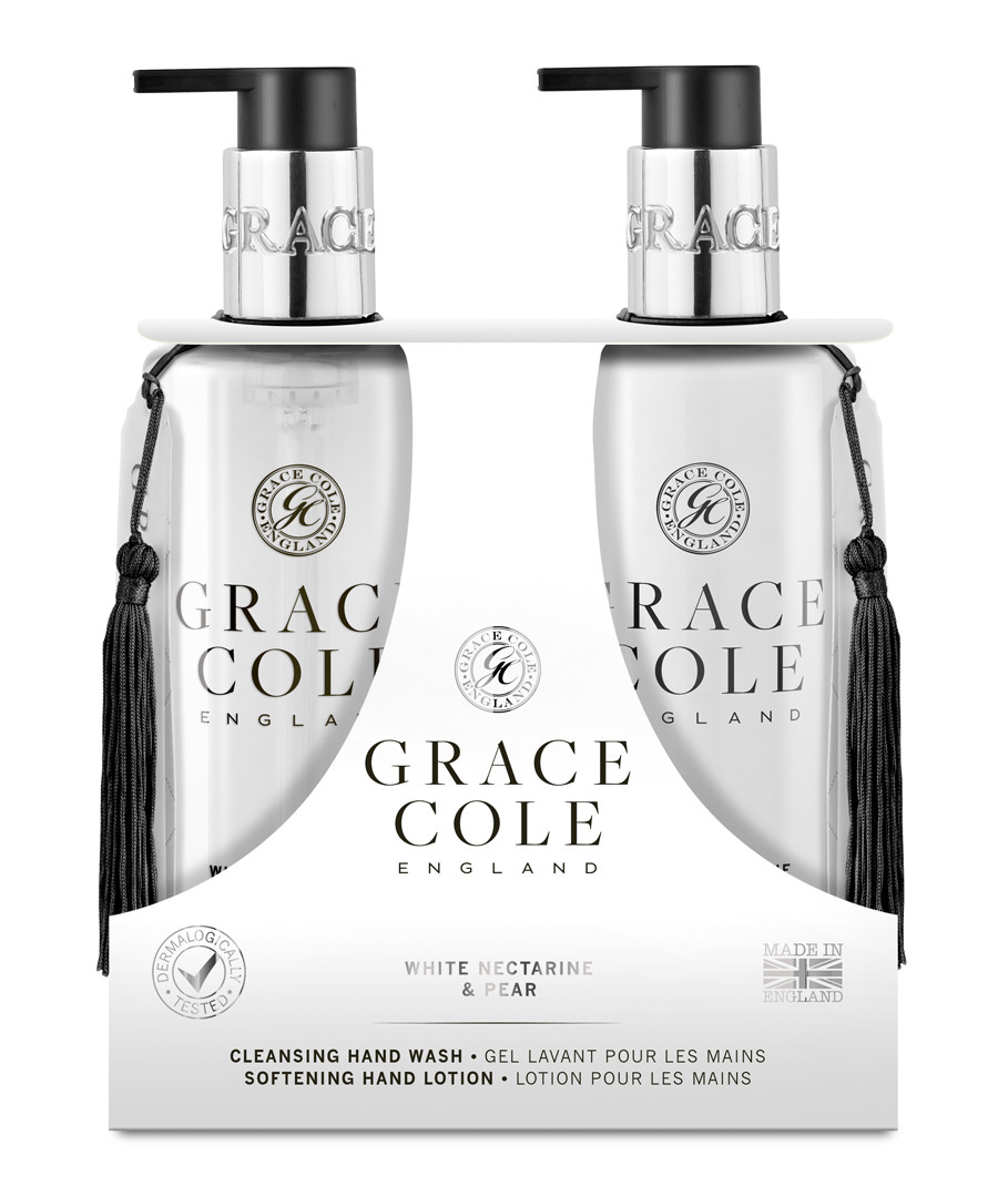 2pc White Nectarine & Pear hand care set Sale - grace cole