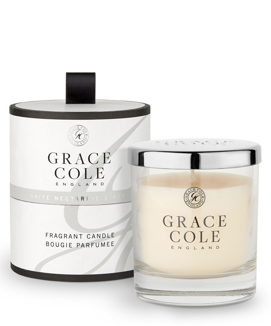 White Nectarine & Pear candle 200g Sale - grace cole