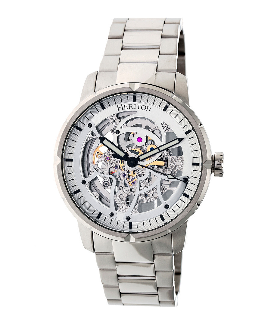 Ryder steel link watch Sale - heritor automatic