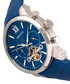 Arthur steel & blue leather watch Sale - heritor automatic Sale