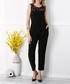 Black lace panel sleeveless jumpsuit Sale - zibi london Sale