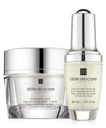 2pc Age recovery cream & oil set