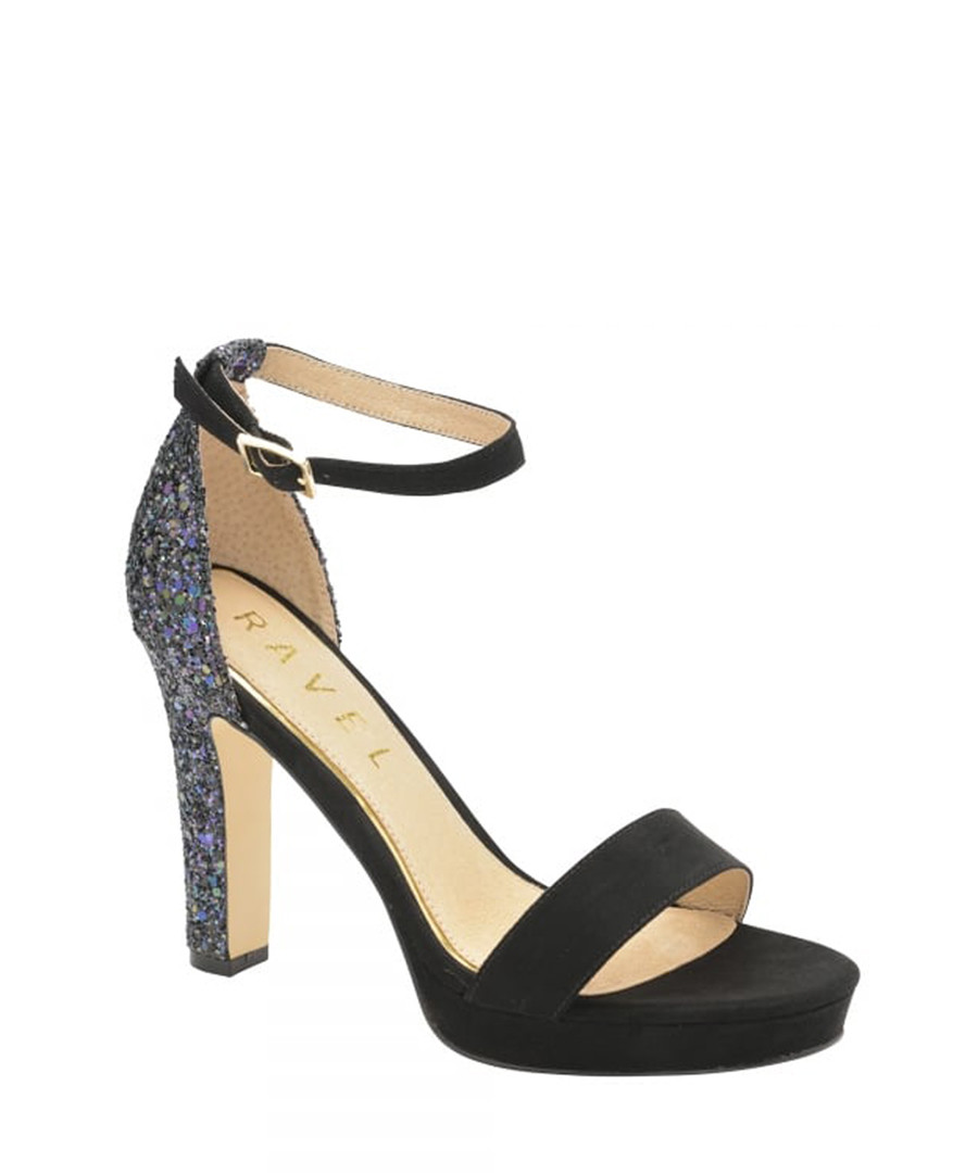 Black ankle strap platform heels Sale - ravel
