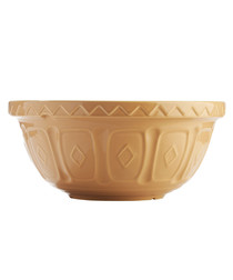 Cane brown earthenware mixing bowl 26cm