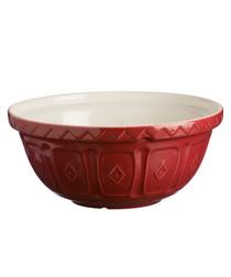 Burgundy earthenware mixing bowl 29cm