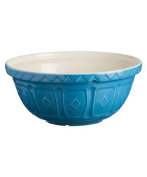 Azure earthenware mixing bowl 29cm