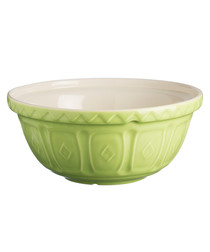 Green earthenware mixing bowl 29cm