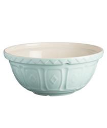 Blue earthenware mixing bowl 24cm