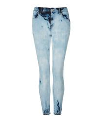 Alana blue high-rise crop skinny jeans