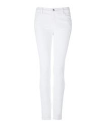 Maude white mid-rise cigarette jeans