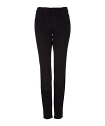 Maude black mid-rise cigarette jeans