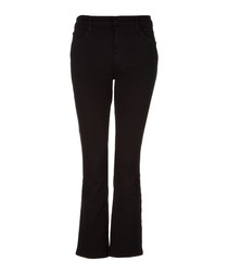 Selena black mid-rise cropped boot jeans