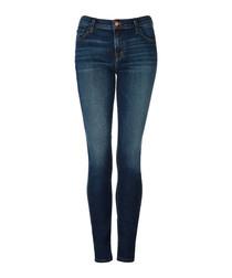 Maude blue mid-rise cigarette jeans