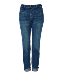 Johnny blue mid-rise boyfit jeans