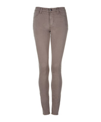 485 taupe mid-rise super skinny jeans