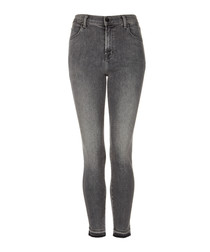 Alana grey high-rise crop skinny jeans
