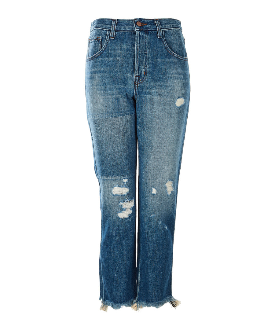 Wynne blue high-rise cropped jeans Sale - J Brand