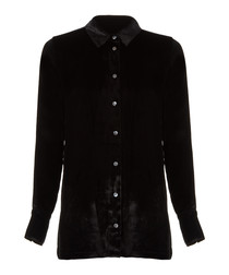 Nora black silk blend shirt
