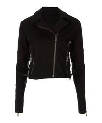 Aiah black pure cotton jacket