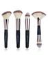 4pc black & beige make-up brush set Sale - zoe ayla Sale