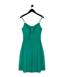 Lana sea green strappy mini dress