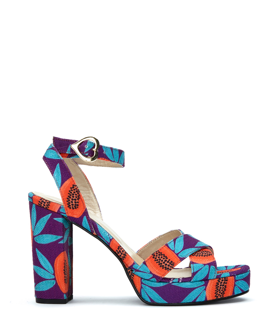 03d79ac3308 Discount Nolita purple papaya print heels | SECRETSALES