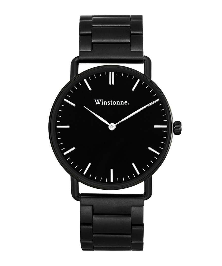 Easton black steel watch Sale - winstonne