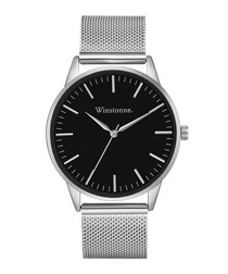Hudson silver-tone steel watch