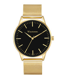 Hudson gold-tone steel watch