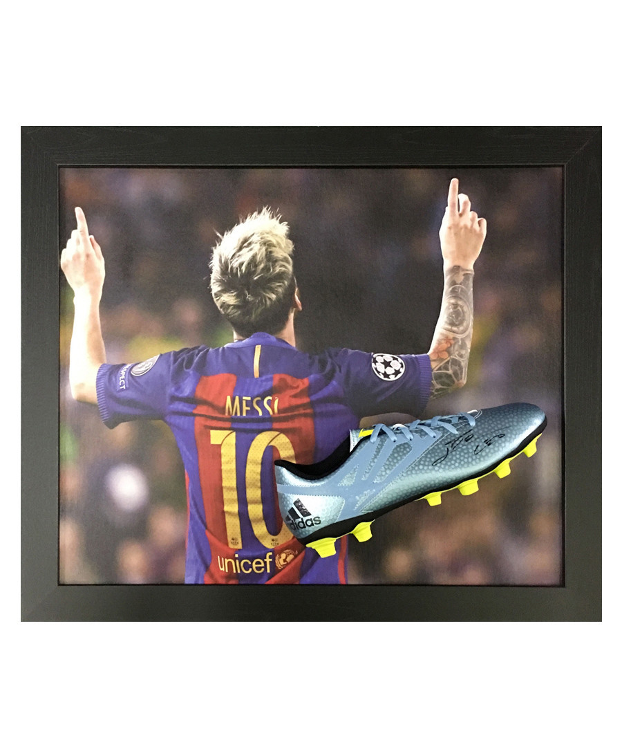 Lionel Messi signed boot Sale - sporting memorabilia