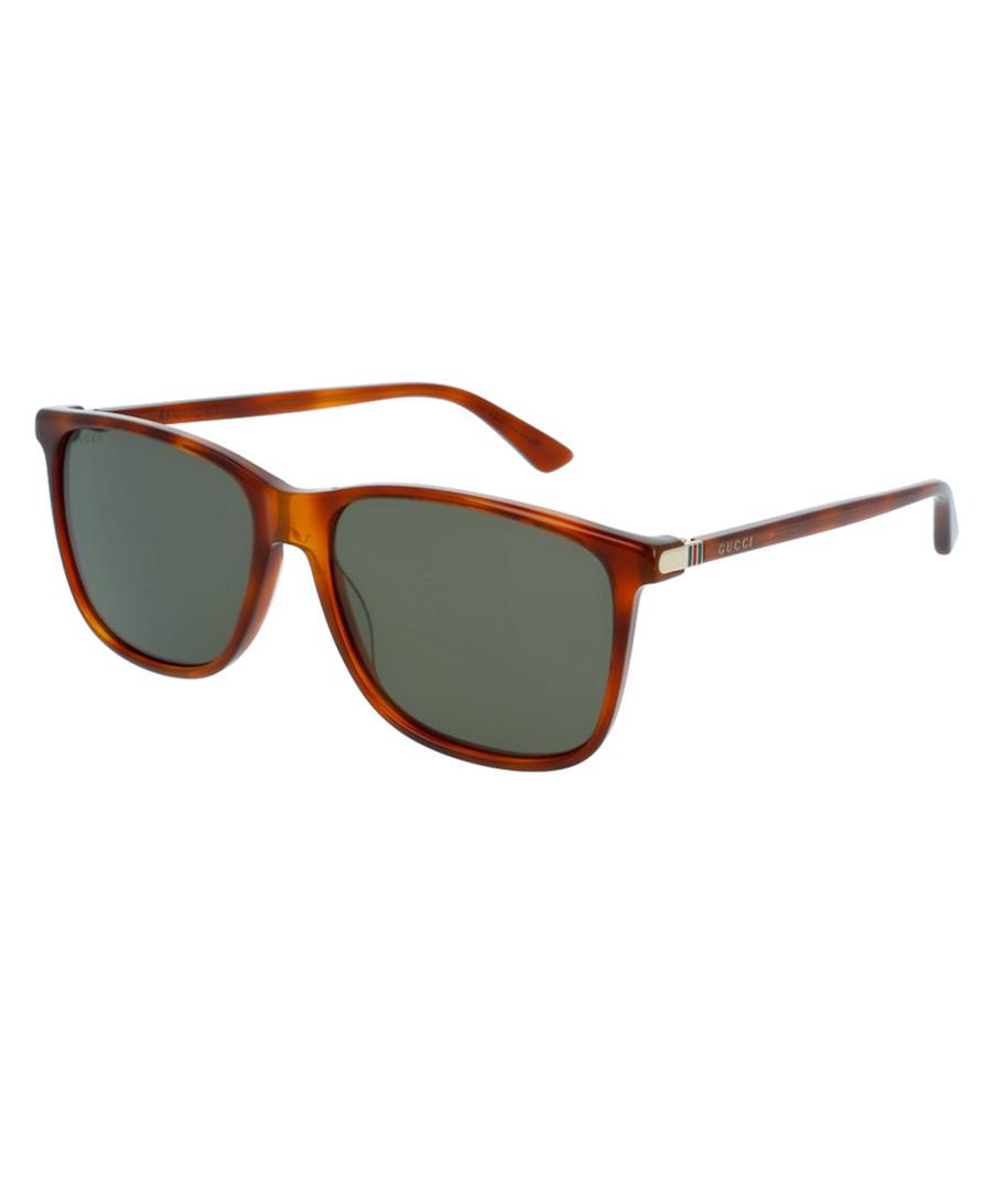 8280b064b6 ... Havana   green D-frame sunglasses Sale - Gucci Sale